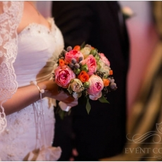 pink-oragne-green-mixed-roses-david-austin-wedding-bouquet
