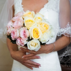 pink-yellow-cream-roses-wedding-bouquet