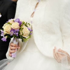 purple-cream-roses-freesias-wedding-bouquet